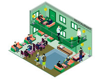 Illustration of infographic interior  room concept Royalty Free Stock Photo