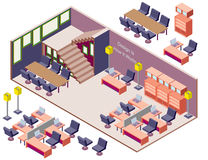 Illustration of infographic interior  room concept Stock Photos