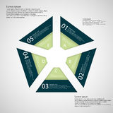 Illustration infographic with shape of pentagon Stock Photography