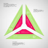 Illustration infographic with shape of triangle Royalty Free Stock Photo