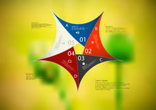Illustration infographic template with color star pentagon from five sections Royalty Free Stock Images