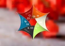 Illustration infographic template with spiky hexagon divided to six parts Royalty Free Stock Image