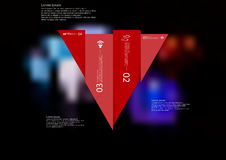 Illustration infographic template with triangle vertically divided to four shifted red parts Royalty Free Stock Photo