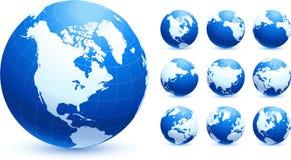 Illustration initiale de vecteur de globes Photos libres de droits