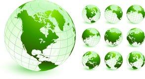 Illustration initiale de vecteur de globes Photographie stock