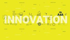 Illustration of innovation wording concept. Illustration of innovation wording concept for presentation, book, website etc stock illustration