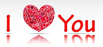 Illustration of the inscription I love you. Stock Images
