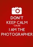 Ne gardez pas le calme Photo stock