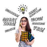 Illustration of inspired student Royalty Free Stock Photos