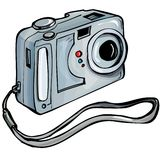 Illustration of a instant camera Royalty Free Stock Photo