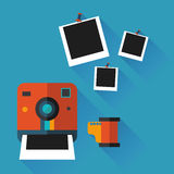 Illustration of an instant photo Royalty Free Stock Image