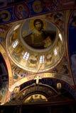 Illustration intérieure de dôme principal d'église Images stock