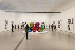 Illustration intérieure de large Art Museum contemporain photo stock