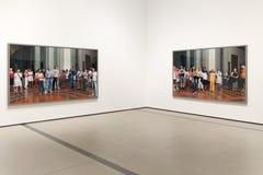 Illustration intérieure de large Art Museum contemporain Images libres de droits