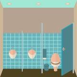 Illustration intérieure de vecteur de toilette public Images stock