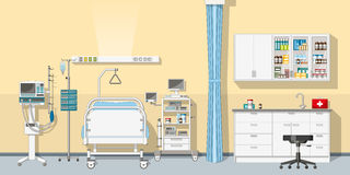 Illustration an intensive care unit Royalty Free Stock Photo