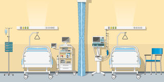 Illustration an intensive care unit. Illustration an modern intensive care unit royalty free illustration