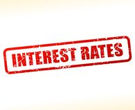 Interest rates text buffered. Illustration of interest rates text buffered on white background Royalty Free Stock Photos