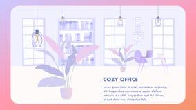 Illustration Interior Cozy Office Business Company 向量例证