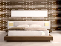 Illustration of Interior of modern bedroom Royalty Free Stock Photo