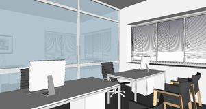 Illustration of interior Royalty Free Stock Images