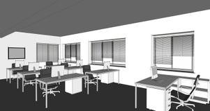Illustration of interior Stock Photo
