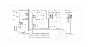 Illustration of interior. Plan Royalty Free Stock Images