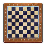 Illustration: International Chess Board With Marks. Royalty Free Stock Photos