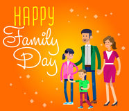 Illustration of International day Families concept Royalty Free Stock Images