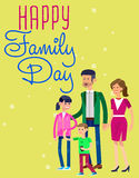 Illustration of International day Families concept Stock Photos