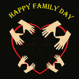 Illustration of International day of Families. Happy family, mom Royalty Free Stock Images