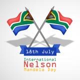Illustration of International Nelson Mandela Day Background Royalty Free Stock Images