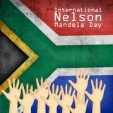 Illustration of International Nelson Mandela Day Background Royalty Free Stock Image