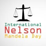 Illustration of International Nelson Mandela Day Background Stock Photos