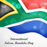 Illustration of International Nelson Mandela Day Background. Illustration of elements of international Nelson Mandela Day background Stock Images