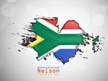 Illustration of International Nelson Mandela Day Background. Illustration of elements of international Nelson Mandela Day background Stock Image