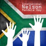 Illustration of International Nelson Mandela Day Background. Illustration of elements of international Nelson Mandela Day background Stock Photos