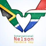 Illustration of International Nelson Mandela Day Background. Illustration of elements of international Nelson Mandela Day background Royalty Free Stock Image