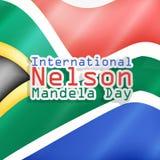 Illustration of International Nelson Mandela Day Background. Illustration of elements of international Nelson Mandela Day background Stock Photography