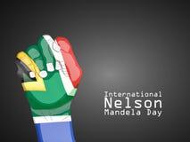 Illustration of International Nelson Mandela Day Background. Illustration of elements of international Nelson Mandela Day background Royalty Free Stock Photo