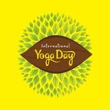 International yoga day poster. Illustration of international yoga day poster design Royalty Free Stock Photos