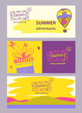Illustration internet banner for advertising tourism companies, Royalty Free Stock Photos