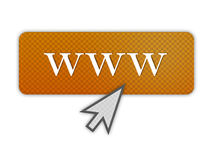 Illustration for Internet in Orange Color. An illustration depicting the world wide web i.e. www in Green Color Stock Photo