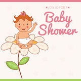 Illustration invitation card on baby shower Royalty Free Stock Image