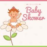 Illustration invitation card on baby shower Royalty Free Stock Image