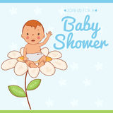 Illustration invitation card on baby shower Stock Photos