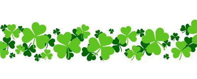 Irish Shamrock banner Royalty Free Stock Photos