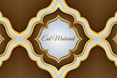 Illustration islamique moderne de carte d'Eid Mubarak Wide Background Banner And Photographie stock libre de droits
