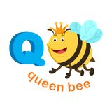 Illustration Isolated Alphabet Letter Q Queen bee. Vector Royalty Free Stock Images
