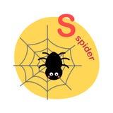 Illustration isolated alphabet letter s-spider. Vector illustration vector illustration
